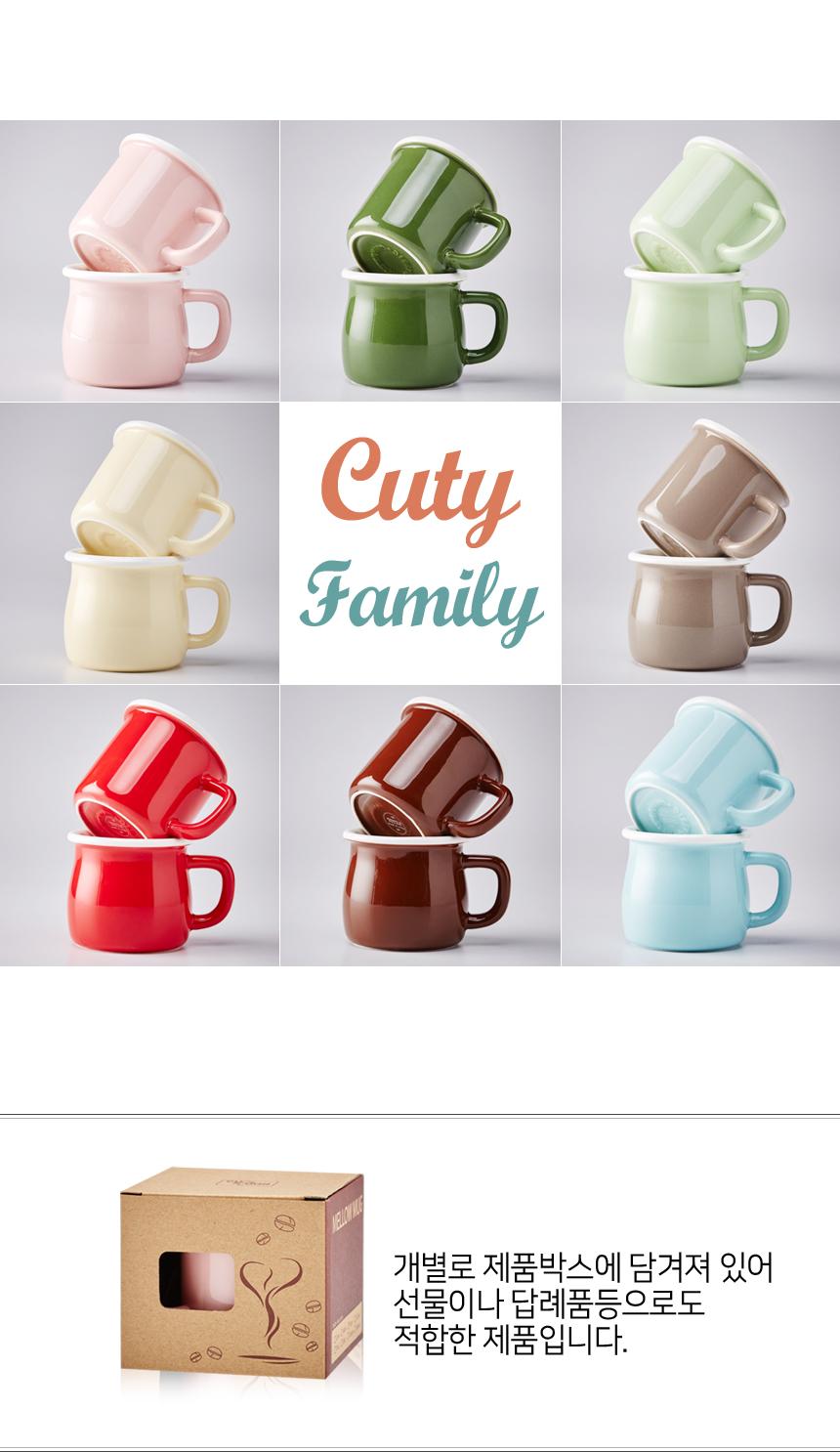 큐티 패밀리 도자기 머그컵 (슈크림or멜로우) - 김씨하우스, 9,500원, 머그컵, 심플머그